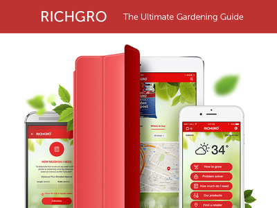 Richgro App Design, UI, UX and Development app developers australia dapper apps ux design ui design tech mobile business app apps perth app design