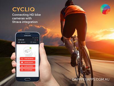 Cycliq Mobile App Design, UI, UX and Development app developers australia dapper apps ux design ui design tech mobile business app apps perth app design