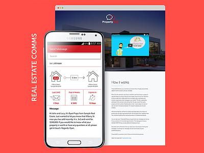 Property SMS App Design, UI, UX and Development app developers australia dapper apps ux design ui design tech mobile business app apps perth app design