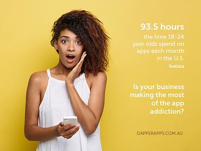 App Addiction app developers australia app development dapper apps ux design ui design tech digital marketing business app mobile app app design apps mobile ui