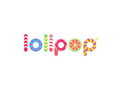 Lolipop store logo branding sweet gummy candy