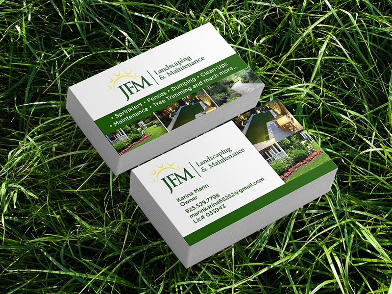 Business Card Design For Landscaping Company By Daniel Montiel