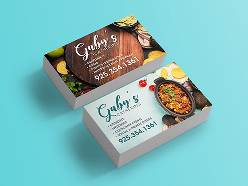 Business card design for catering company by daniel montiel dribbble prismadream business cards design cathering gaby business card design for catering company reheart Image collections