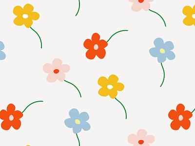 spring flowers pastel daisy spring flowers illustration graphic flat illustrator vector color minimal