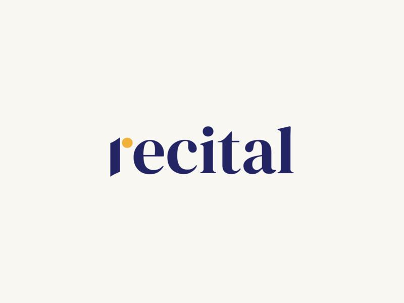 Recital Wordmark wordmark typography vector brand design logodesign logos minimal logo branding design branding