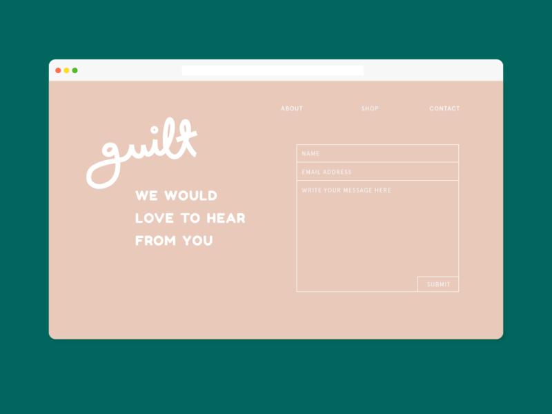 guilt branding design logo web contact landing page website app ui graphic typography flat illustrator vector color minimal
