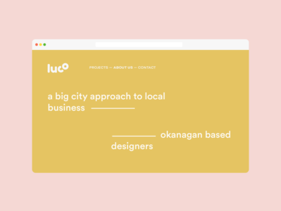 luco landing page