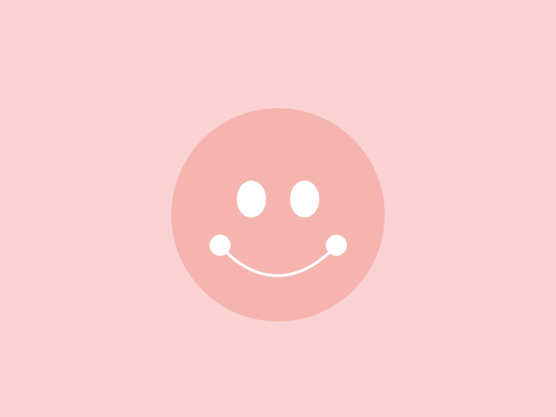 smiley lula happy smiley face retro pink smiley branding illustration graphic flat illustrator vector color minimal