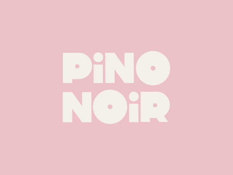 pino noir lula pink wine label wordmark design logo branding type graphic typography flat illustrator vector color minimal
