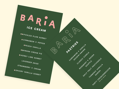 baria menu