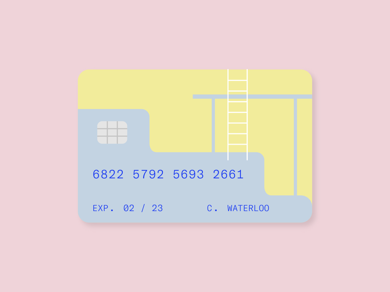 pool day ecommerce payment creditcard summer swimming pool beach ui layout illustration type graphic typography flat illustrator vector color minimal