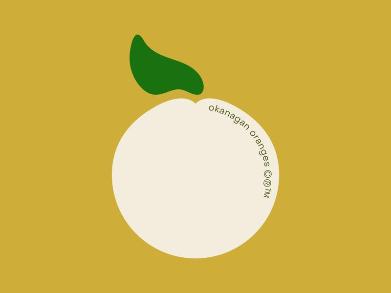 okanagan oranges logo fruit logo organic produce fruit orange branding illustration type graphic typography flat illustrator vector color minimal