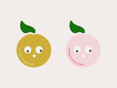 okanagan oranges mascots stickers cute character organic fruit branding illustration type graphic typography flat illustrator vector color minimal