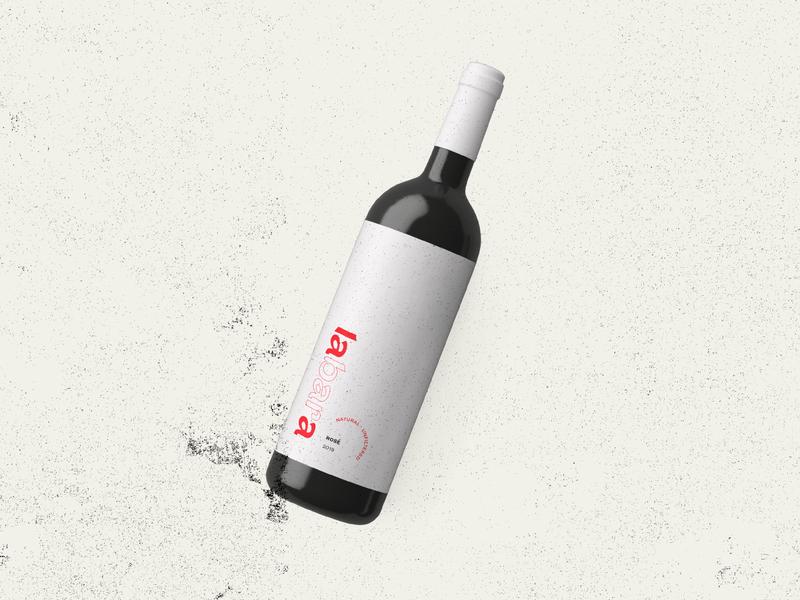 labara wine wine label wine bottle wine mockup packaging layout logo branding graphic typography illustrator vector color minimal