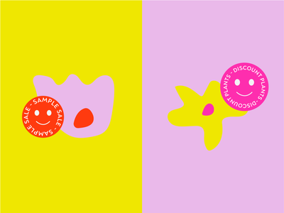 sproot stickers flowers branding illustration type graphic typography flat illustrator vector color minimal