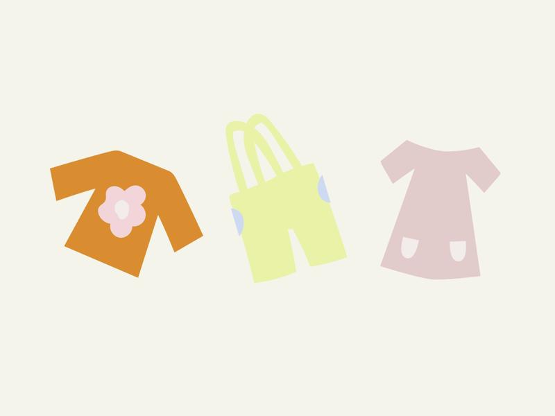 ginni illustrations clothing brand childrens illustration kids clothing pink design branding illustration graphic flat illustrator vector color minimal