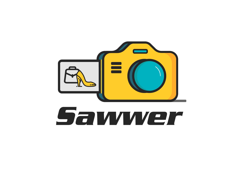 Sawwer Ecommerce Photography Logo ecommerce photography yellow logo pro yellow design logo critique branding logo illustration logo design