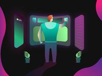 Colorful Tech Illustration