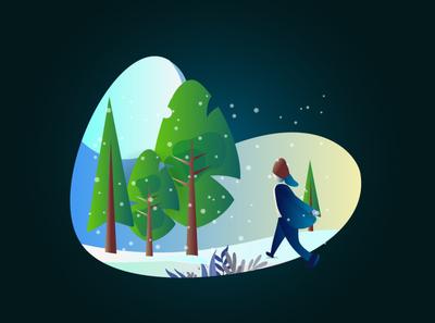 Snowy Winter Illustration