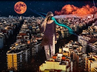 A Giant Girl Over The City Cover