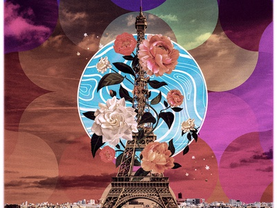 In The Streets Of Paris collage art collage photoshop photomanipulation design digital illustration illustration
