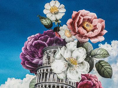 Spring At Pisa collage art collageart photoshop photomanipulation design digital illustration illustration