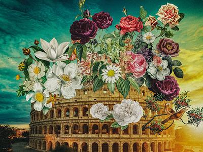 Spring In Rome collage collageart photoshop photomanipulation design digital illustration illustration