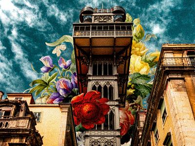 Spring In Lisbon collage art collage photoshop photomanipulation design digital illustration illustration
