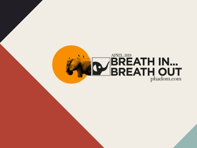 Breath In - Breath out Self promotion Campaign typography design digital illustration illustration