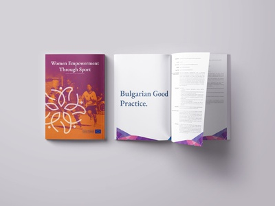 Women Empowerment through Sport Hand book branding design brand design brand identity brand