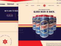 Gluek Beer Website