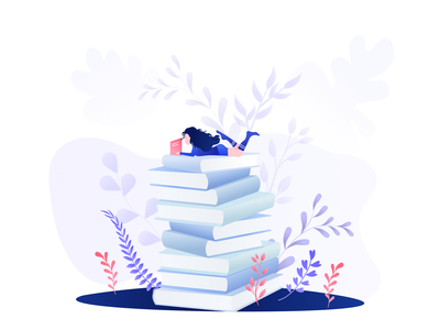 Reading time📖 minimal dribbble read book gradient illustration design