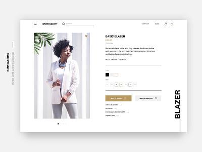 Fashion Store Product Page🌿 ethworks ui  ux design ux ui website web white black gold e-commerce typography design women fashion winter onlineshop store fashion