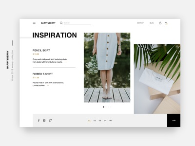 Fashion Store Inspiration Page🌿 ethworks inspiration clothes online store store e-commerce typography ux ui design