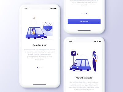 Parking App ethworks parking app parking car aplication app vector flat ui illustration design