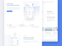 Crypto savings-landing page