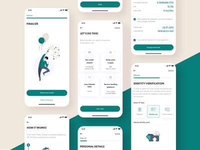 Loan Application✨ app icon bitcoin vector cryptocurrency currency ux ethereum flat ethworks crypto ui blockchain illustration design