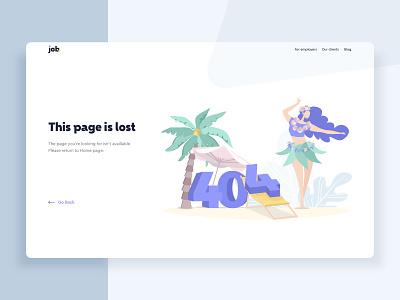 404 page🌺 web typography logo branding landing ux website flat ethworks ui illustration design