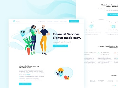 Selfkey🔑 typography web vector bitcoin ethereum currency landing website ux crypto blockchain flat ui ethworks illustration design