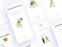 MetaMask🦊 web blockchain flat ux crypto metamask ethworks ui illustration design