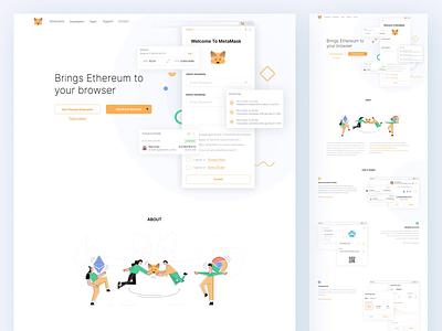 MetaMask🦊 bitcoin animation metamask vector website landing illustration ui ux crypto blockchain flat ethworks design