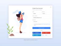 Create Your Account💫 create account log in screen branding logo vector landing website ux flat ui illustration design
