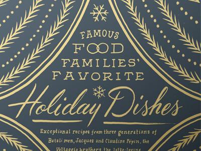 Food & Wine Holiday Opener lettering illustration ink