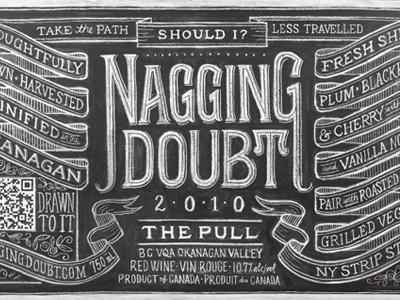The Pull chalk lettering hand lettering wine banner vintage chalkboard