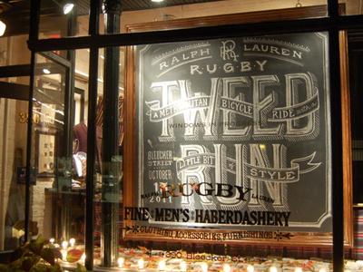 Rugby Ralph Lauren Men's chalk lettering hand lettering script swash swirl vintage banner bleecker nyc new york monogram rugby ralph lauren