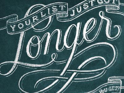 West Elm Sneak Peek chalk lettering hand lettering script swash swirl vintage banner west elm nyc brooklyn christmas