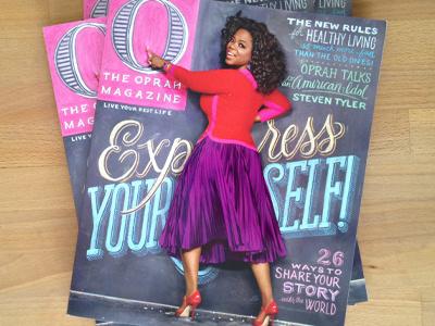O Magazine oprah chalk lettering hand lettering typography o magazine