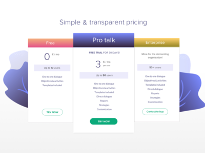 Smart Pricing web pricing plan price table pro website price ui pricing