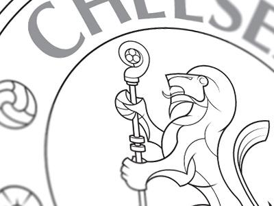 Chelsea lion dribbble