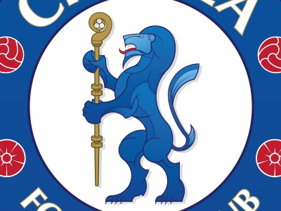 Chelsea FC Crest Continued chelsea football soccer crest logo badge sports lion heraldry